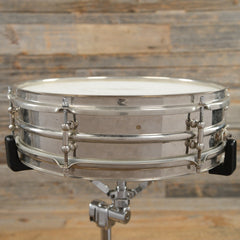 Ludwig 4x14 Universal Nickel Over Brass Snare Drum 1920s USED