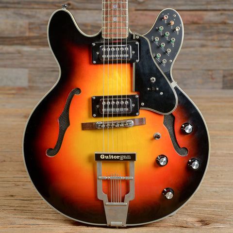 MCI Guitorgan Sunburst Late 1960s/Early 1970s w/Expression Pedal and Cables (s312)