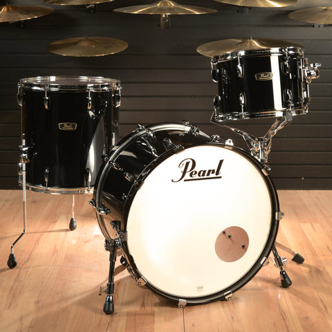 Pearl Wood/Fiberglass 13/16/22 3pc Drum Kit Piano Black