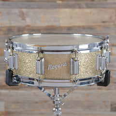 Rogers 5x14 Wood Dynasonic Snare Drum Gold Sparkle Early 1960s