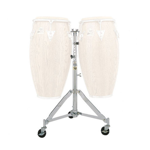 LP LP290B Double Conga Stand w/Wheels