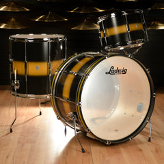 Ludwig Club Date Vintage 13/16/22 3pc Drum Kit Black/Gold Duco