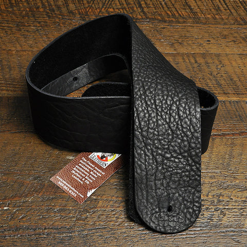Lakota Leathers Guitar Strap 3 Inch Black