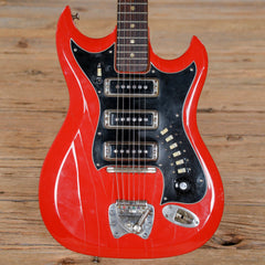 Hagstrom Model III Red 1967 (s372)