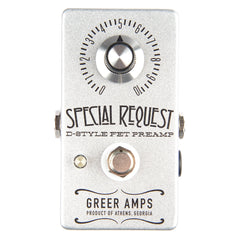 Greer Amps Special Request Boost Silver Sparkle