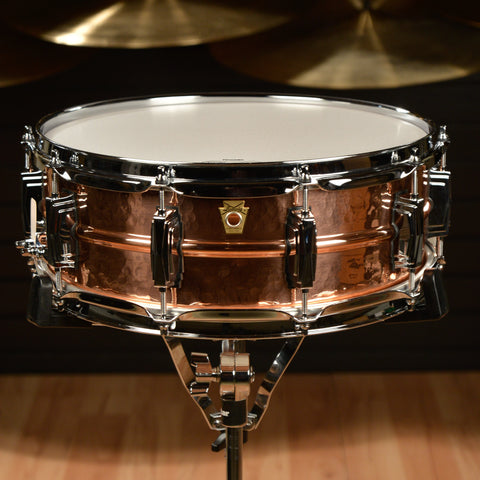 Ludwig 5x14 Hammered Copper Snare Drum w/Imperial Lugs