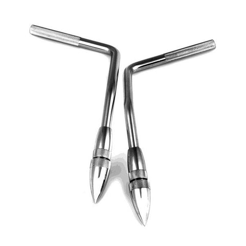 Dunnett R-Class 10mm Gull-Wing Bass Drum Spurs (Pair)