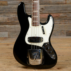 Fender Jazz Bass Black w/Matching Headstock & OHSC 1967 (s755)