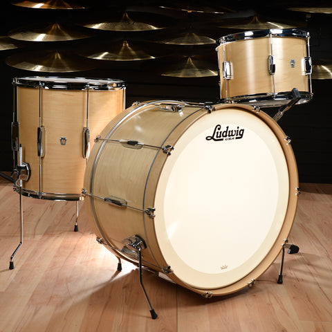 Ludwig Club Date 13/16/24 3pc Drum Kit Natural Satin