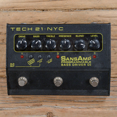 Tech 21 SansAmp 3 Channel Prog Bass Driver DI USED