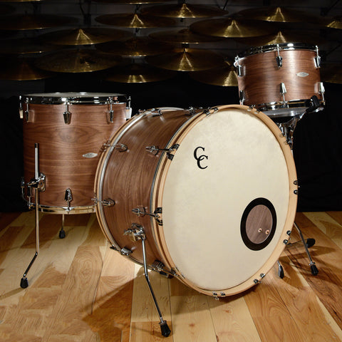 C&C 12th & Vine 3pc Drum Kit 13/16/24 Walnut/Poplar Espresso Satin