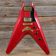 Gibson Flying V II Cherry Sparkle Metallic 1982 (s011)