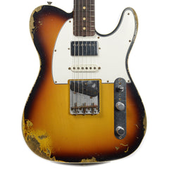 Fender Custom Shop 60s Nashville HB Telecaster Custom Heavy Relic HSS Faded 3 Color Sunburst (Serial #CZ527892)