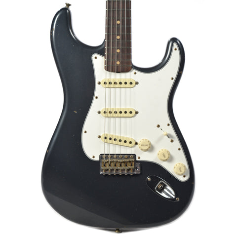 Fender Custom Shop 1960 Stratocaster Journeyman Relic RW Aged Charcoal Frost Metallic (Serial #R88080)