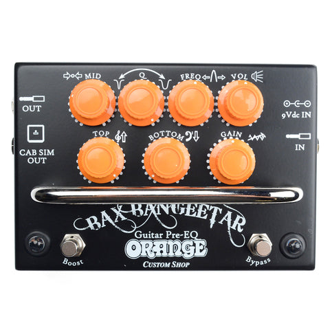 Orange Bax Bangeetar Pro EQ Pedal Black