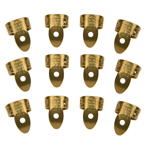 National Picks Metal Finger Pick Vintage Brass 12 Pack