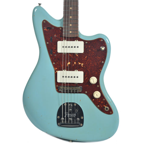 Fender Custom Shop 1962 Jazzmaster Journeyman Relic RW Aged Daphne Blue w/Lollar Pickups & Painted Headcap (Serial #R88869)