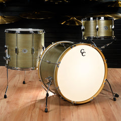 C&C Signature CDE Player Date Maple/Oak 13/16/22 3pc Big Beat Drum Kit Olive