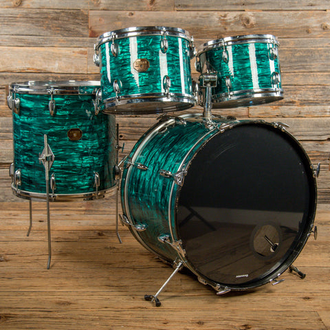 Gretsch 12/13/16/22 4pc Drum Kit Emerald Green Pearl 1970s USED