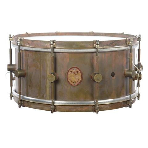 A&F Drum Co. 6.5x14 Raw Brass Snare Drum