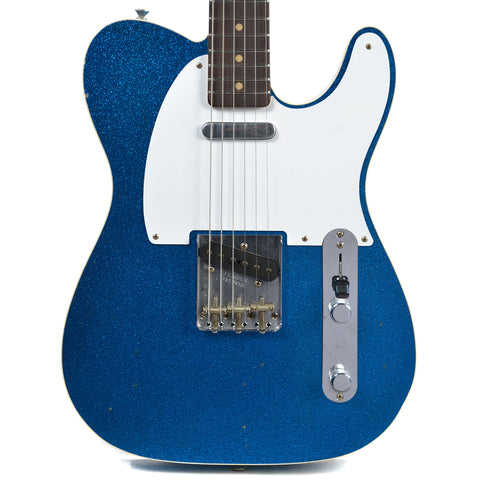 Fender Custom Shop 1962 Telecaster Custom Journeyman Relic RW Aged Blue Sparkle (Serial #R86488)