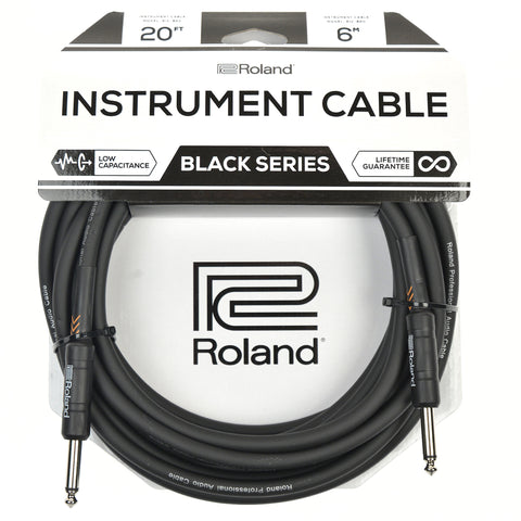 "Roland Black Series 20ft S/S 1/4"" Instrument Cable"