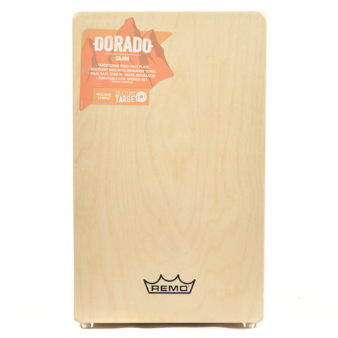 Remo Dorado Cajon Fixed Face Plate Birch Construction Natural Finish