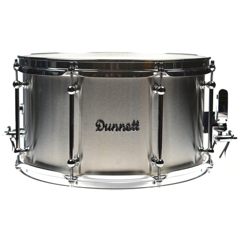 Dunnett 8x14 Stainless Steel Snare Drum