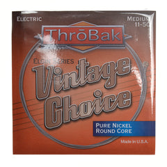 ThroBak Round Wound Pure Nickel Round Core Medium Electric String Set (11-50)