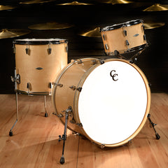 C&C Gladstone 13/16/22 3pc Kit Natural Maple Gloss w/Aged White Marine Pearl Inlay