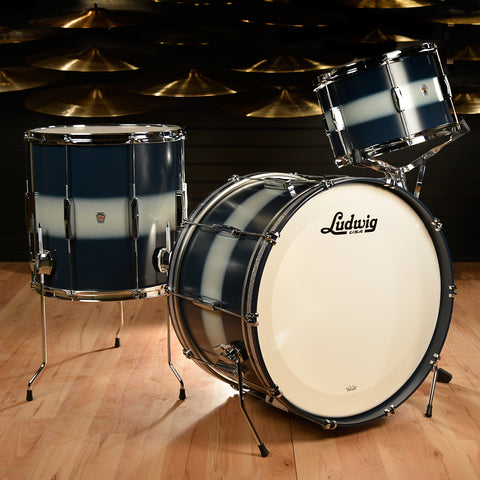 Ludwig Club Date Vintage 13/16/22 3pc Drum Kit Blue/Silver Duco