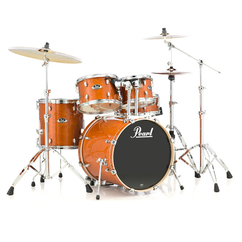 Pearl Export 10/12/14/20/5.5x14 5pc Kit w/Hardware Pack Honey Amber