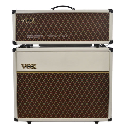 Vox AC30CH-WB Head & V212C-WB 2x12 Cabinet Limited Edition White Bronco Set w/Celestion Creambacks