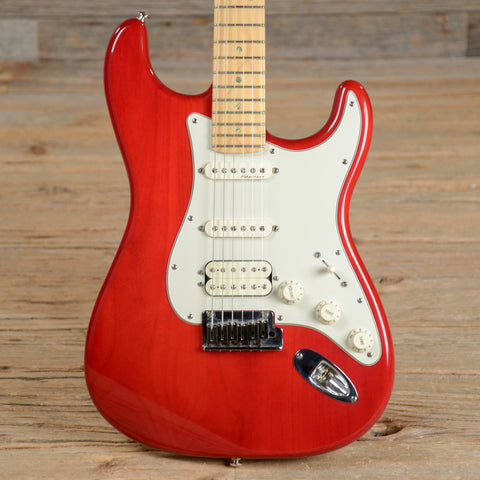 Fender American Deluxe Stratocaster HSS MN Transparent Red 2000 (s555)