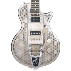 James Trussart SteelDeville Shiny Nickel Holey w/Duncan Phat Staple & Dynobucker Pickups B-Stock