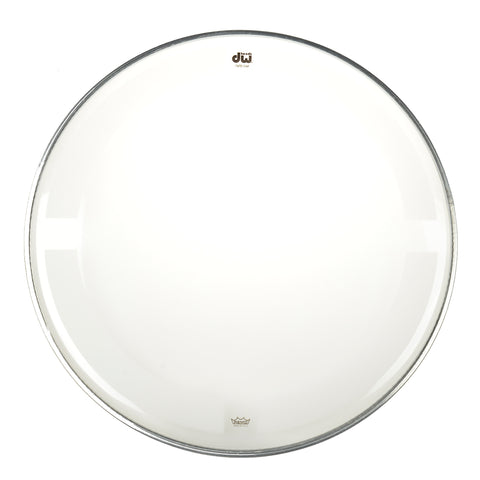 "DW 15"" Coated Clear Drum Head"