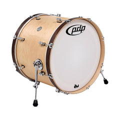Pacific PDP 24x14 Concept Maple Classic Bass Drum Natural w/Tobacco Hoops