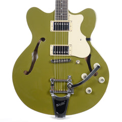 Hofner Contemporary Verythin Olive Green w/Bigsby