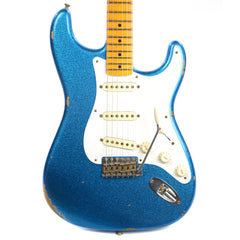 Fender Custom Shop 1957 Stratocaster Ash Relic MN Aged Blue Sparkle (Serial #R86903)