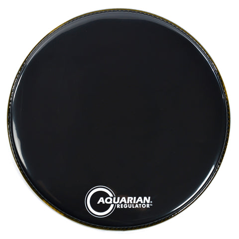 "Aquarian 18"" Regulator Full Drum Head Black"