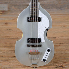 Hofner Ignition LTD Violin Electric Bass Guitar Silver Sparkle USED (s169)