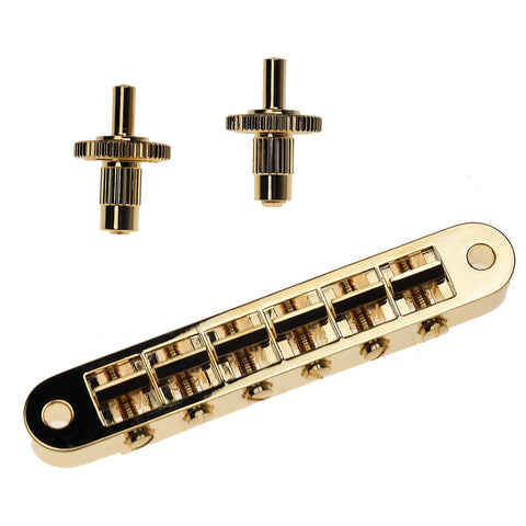 Gibson Nashville Tune-O-Matic Bridge - Gold w/Full Assembly