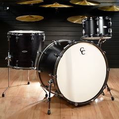C&C Gladstone 13/16/24x16 3pc Kit Ebony Satin w/Ginger Glitter Inlay