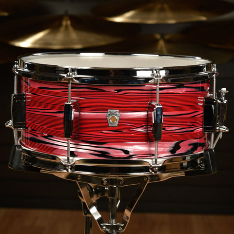 Ludwig 6.5x14 Club Date Snare Drum Ruby Strata