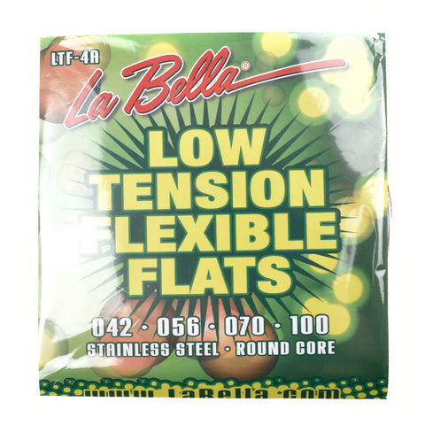 La Bella LTF-4A Low Tension Flexible Flat Wound Bass Strings 43-100