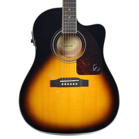 Epiphone AJ-220SCE Acoustic-Electric Vintage Sunburst