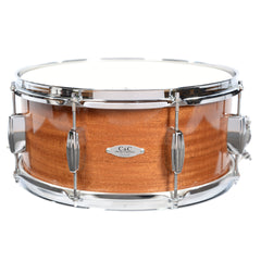 C&C 6.5x14 Maple/Gum Snare Drum High-Gloss Ribbon Mahogany