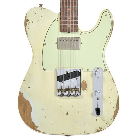 Fender Custom Shop 1960s Telecaster Custom Heavy Relic Hot Rod Super Faded Aged Sonic Blue