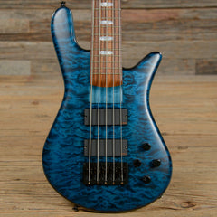 Spector USA NS5H2 5-String Bass Transparent Blue USED (s379)