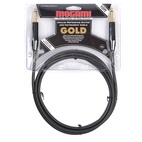 Mogami Gold Instrument Cable 10ft S/S